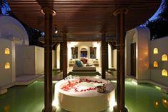 Überdachte Runde Badewanne Luxus-Spa Resort