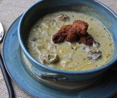 Oyster and Artichoke Soup recipe from Raised on a Roux