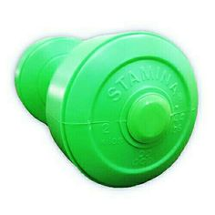 DUMBBELL PLASTIC STAMINA 2 KG  COLOR: GREEN/ORANGE/SILVER MATERIAL: PLASTIK HDPE  HIGH QUALITY PRODUCT  FAST RESPONSE WA.08161115220