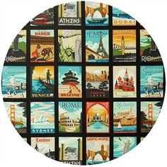 "Robert Kaufman, Dream Vacation Vintage (24"" Panel)"