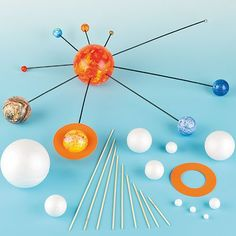 Make Your Own Solar System Kits with Various Sizes Polystyrene Balls Foam Pieces Wooden Sticks for Kids Science ProjectsPack of 2 kits * Want additional info? Click on the image.-It is an affiliate link to Amazon.