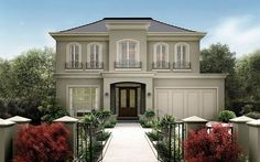 French Provincial Modern Georgian Style Homes Modern Georgian, Georgian Style Homes, French Style Homes, French Chateau Homes, Traditional Home Exteriors, French Provincial Home, House Front Design, Transitional House, Dream House Exterior