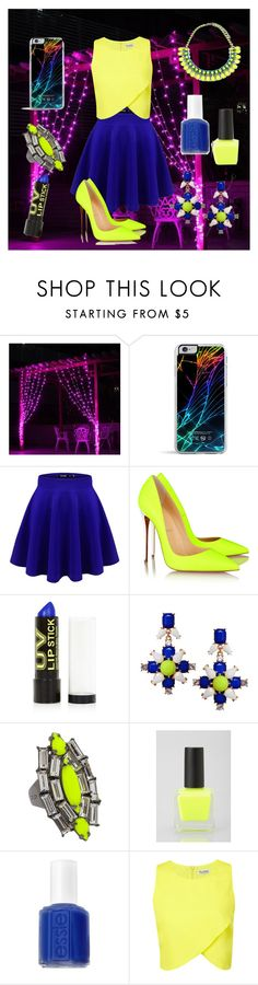 """Glow in the dark"" by kristen-lol ❤ liked on Polyvore featuring Forever 21, Christian Louboutin, Topshop, Humble Chic, CC SKYE, UO, Essie, Miss Selfridge and Emi Jewellery"