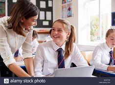 Find Female Teacher Helping Pupil Using Computer stock images in HD and millions of other royalty-free stock photos, illustrations and vectors in the Shutterstock collection. Thousands of new, high-quality pictures added every day. Private School, Public School, Classroom Images, Cute School Uniforms, School Girl Dress, Independent School, Secondary School, New Pictures, Royalty Free Photos