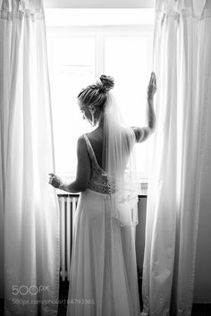 The Bride in front of the window by Aneta_Lehotska