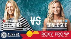 Stephanie Gilmore vs. Courtney Conlogue - Roxy Pro Gold Coast 2017 Round...