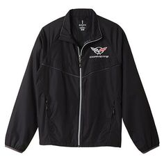 C5 Corvette Black Windbreaker Jacket