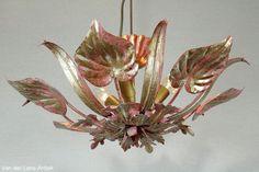 Italiaanse plafonniere 25956 bij Van der Lans Antiek. Meer antieke lampen op www.lansantiek.com
