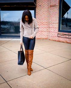 Brutally Honest Spanx Moto Leggings Review: 12+ Months Later! Street Style 2017, Street Style Summer, Casual Street Style, Street Style Women, Black Fashion Bloggers, Black Women Fashion, Modest Fashion, Fashion Outfits, Brutally Honest
