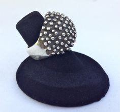 Sterling Silver Statement Ring  Vintage Tribal by WhirleyShirley, $98.00