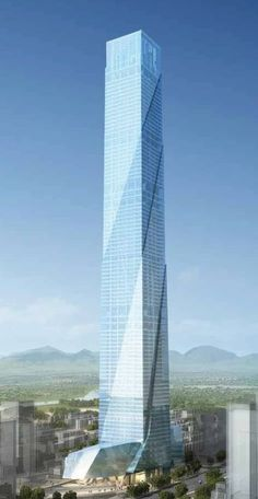 Kaisa Feng Long Centre, Shenzhen, China by 	RTKL Architects :: 100 floors, height 518m