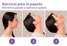 Ejercicio de 30 segundos para eliminar la papada | Gimnasia Facial