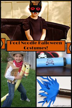 Looking for some fun Halloween costumes? Check out these 15 fun props and costumes made with pool noodles.