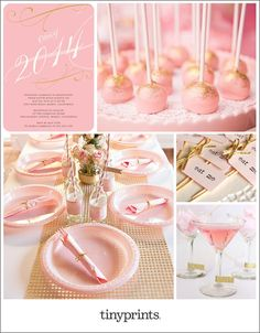 Pretty in Pink Grad Party Inspiration Board | Tiny Prints Blog