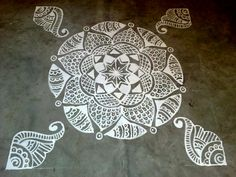 30 Amazing Rangoli Designs And Patterns For 2015 That Will Drop Your Jaw With Awe! Simple Rangoli Designs Images, Rangoli Designs Flower, Rangoli Kolam Designs, Rangoli Patterns, Kolam Rangoli, Beautiful Rangoli Designs, Easy Rangoli, Rangoli Ideas, Indian Rangoli