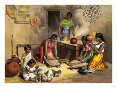 Mexican Women Making Tortillas, 1800s Giclee Print at AllPosters.com