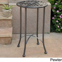 Shop for International Caravan Mandalay Patio Side Table. Get free delivery at Overstock - Your Online Garden & Patio Shop! Get in rewards with Club O! Yard Furniture, Best Outdoor Furniture, Wooden Furniture, Antique Furniture, Outdoor Side Table, Patio Table, Side Tables, Small Porches, Small Patio