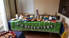 Baby shower sports theme  concession stand