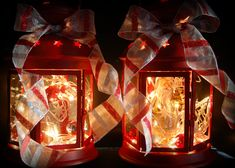 Lighted Merriment Christmas Lanterns rom IKEA as hostess gifts . . . please don't telll my idea for 2013!