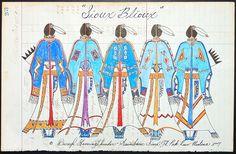 Original Ledger Art by Darryl Growing Thunder (Assiniboine) - Sioux Blioux Native American Artwork, Native American Regalia, Native American Artists, American Indian Art, American Indians, Native Drawings, Southwest Art, Southwest Style, Indian Artist