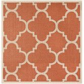 Found it at Wayfair - Courtyard Terracotta Area Rug $275 for 9 x 12, mat-type style