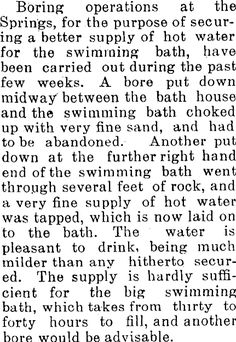Article image Fine Sand, Water Supply, Hot Springs, The Past, History, Image, Spa Water, Historia