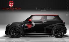 """Mini Car Wrapping Design """"Dark Rebell"""" Mini Cooper Interior, New Swift, Suzuki Swift Sport, Mini Lifestyle, Mini Copper, Mini S, Layout, Modified Cars, Car Wrap"""