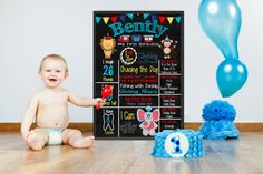 Circus Birthday Party  Circus Birthday Poster  by KBlantonGraphics