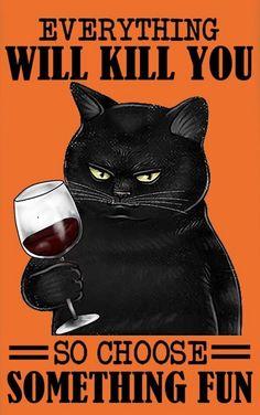 Crazy Cat Lady, Crazy Cats, I Love Cats, Cool Cats, Funny Cats, Funny Animals, Fun Funny, Hilarious, Black Cat Art