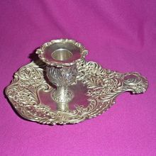 Antique Gorham Sterling Chamberstick candlestick Ornate