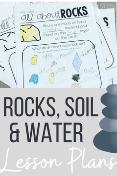 Easy and engaging ideas and science activities for teaching first grade students about Rocks, Soil and Water. Science Lessons, Teaching Science, Science Activities, Back To School Teacher, Going Back To School, Teacher Hacks, Teacher Pay Teachers, Organization Station, Teaching First Grade