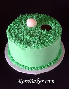 Golf Ball Green Birthday Cake