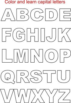 We have thus come up with unique alphabet coloring pages for kids which can be an ideal way to help children recognize alphabets. Capital letters coloring printable page for kids printable alphabet coloring worksheets provided within this article thus . Free Printable Alphabet Letters, Alphabet Templates, Cursive Alphabet, Alphabet Writing, Alphabet Stencils, Alphabet Print, Free Printable Letter Templates, Printable Stencils, Hand Lettering Alphabet
