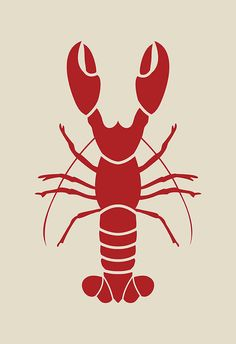 RED LOBSTER POSTER Kitchen Wall Art by EncoreDesignStudios