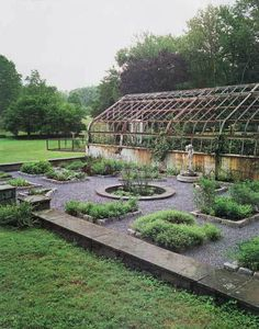 Garden and greenhouse- I would like a smaller version of this at the bottom of the yard.