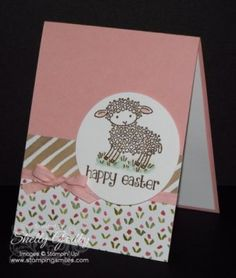 Sweet and Easy Easter Lamb card