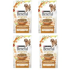 Purina Beneful Originals With Real Chicken Adult Dry Dog Food - lb. - 4 Bag -- Check this awesome product by going to the link at the image. (This is an affiliate link) Dry Dog Food, Dog Food Recipes, Kitchen Dining, Chicken, The Originals, Bag, Link, Awesome, Kitchen Dining Living