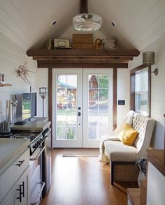 Oregon City, Oregon. 150 sq. ft. Tiny Home by Tiny Heirloom Like this if you love this interior ❤️ #tinyhousemovement #tinyhouse #cabin #smallhouse #tiny #house #cottage #cabinlove #cabinporn #simpleliving #simplelife #architecture #interiordesign #interior #travel #traveling #travelgoals #travellife #housegoals #loft