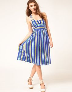 ASOS Midi Summer Dress With Rope Print