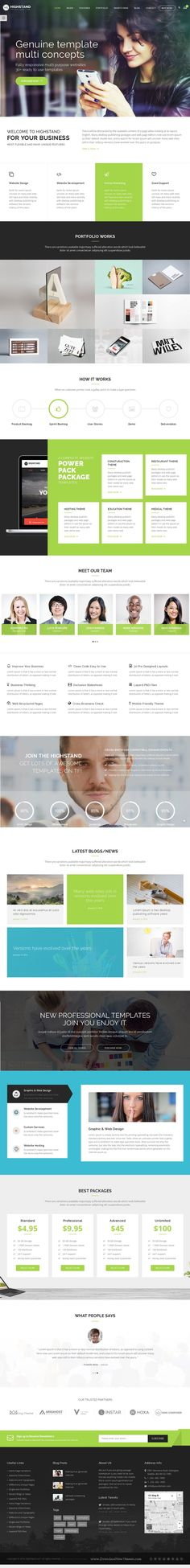 Highstand is simple, clean and Professional Responsive WordPress #theme for #multipurpose #websites. It has wonderful 30 Different Home Pages style and amazing features.