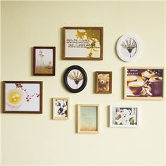 European Style Wood Wall Frame Collection  - Set of 10 Pieces