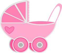 Free clipart, transparent background, png 300 dpi, pink baby girl pram. Perfect for scrapbooking, card making, printable. Copyright free.