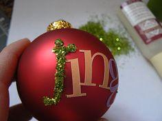 Glittered Ornament Ball DIY