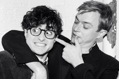 Dane Dehaan  & Daniel Radcliffe  from Kill Your Darlings - I LOVED THIS MOVIE!