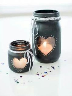 Black Board Chalk Candel Holder