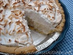 Mommy's Kitchen: Old Fashioned Coconut Cream Pie, Oh My