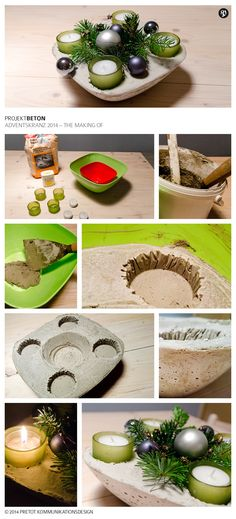 Making of the #concrete #Advent wreath