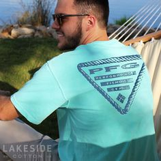 PFG Nautical Wheel in Gulf Stream T-Shirt by Columbia. Available at LakesideCotton.com!