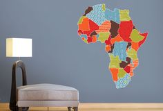 Map Of Africa | Twiggy Vinyl Wall Art South Africa
