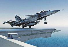 Sea Gripen launching from an aircraft carrier